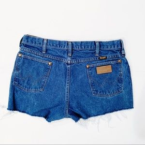 WRANGLER High Rise Denim Shorts